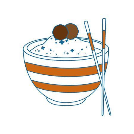 Chinese rice food icon vector illustration graphic design Ilustrace