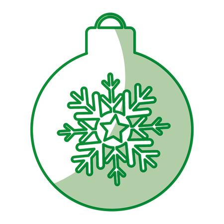 christmas ball isolated icon vector illustration design Stock Vector - 79764063