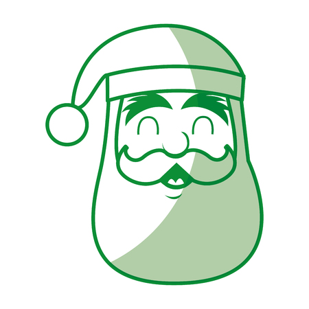 santa claus head character icon vector ilustration
