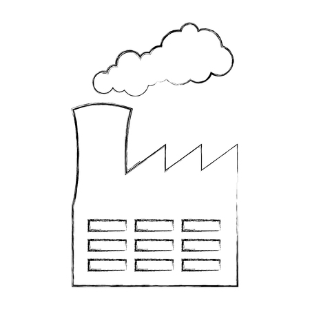 factory building isolated icon vector illustration design Stock Vector - 79764088