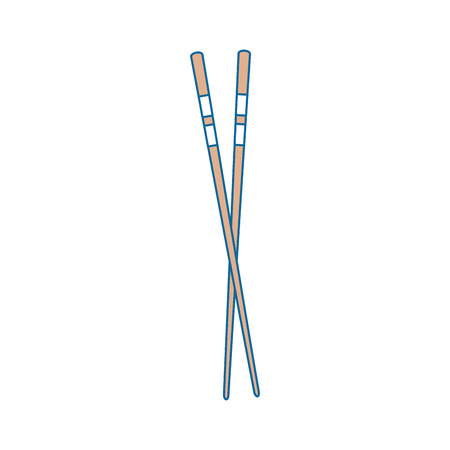 Chopsticks japanese food cutlery icon vector illustration graphic design