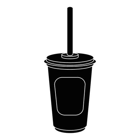 Soda plastic kop pictogram vector illustratie grafisch ontwerp