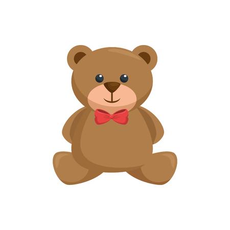 Teddy bear toy icon vector illustration graphic design Illustration