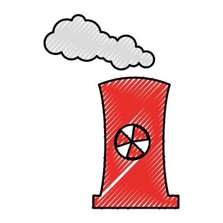 factory chimney isolated icon vector illustration design