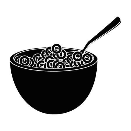 Breakfast cereal food icon vector illustration graphic design Illustration