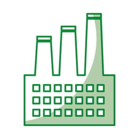 factory building isolated icon vector illustration design Ilustração Vetorial