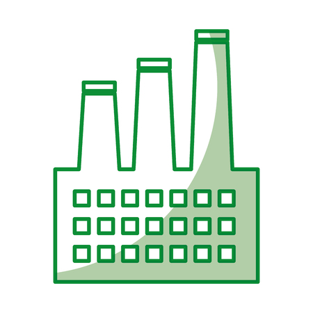 factory building isolated icon vector illustration design