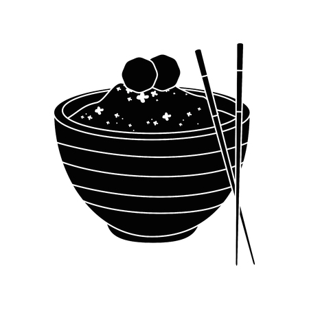 Chinese rice food icon vector illustration graphic design Illustration
