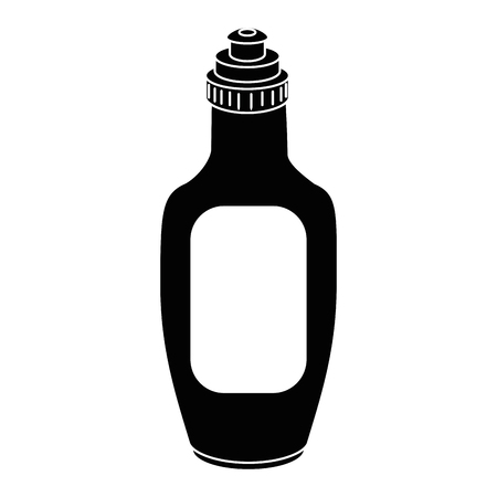 Chocolate sauce in bottle icon vector illustration graphic design