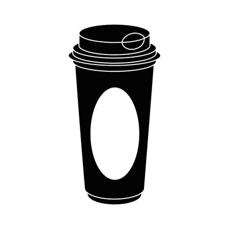 Koffie om te gaan pictogram vector illustratie grafisch ontwerp