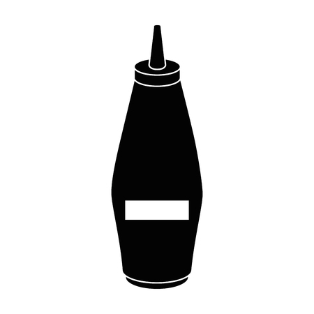 Mustard in bottle icon vector illustration graphic design