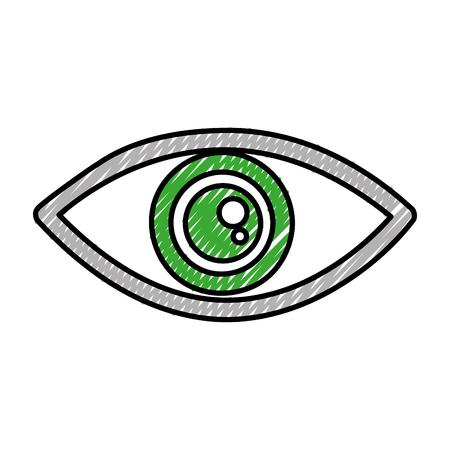 eye view symbol icon vector illustration design