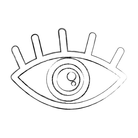 eye view symbol icon vector illustration design