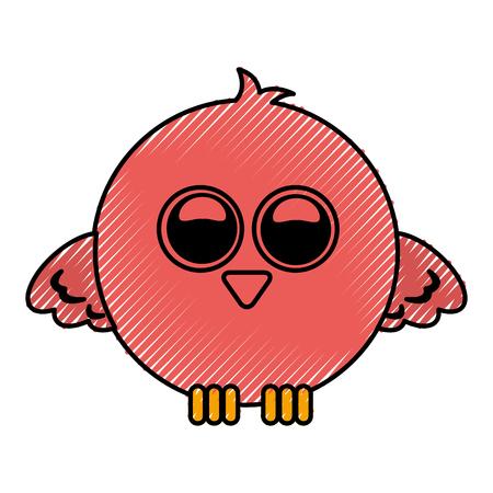 かわいい鳥式漫画のベクトル イラスト デザイン