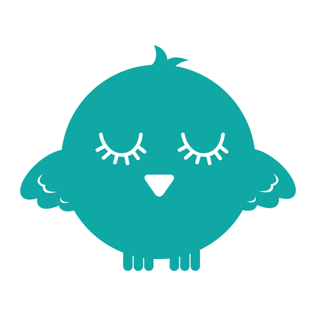 cute bird expression comic vector illustration design