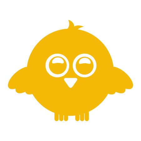 humorous: cute bird expression comic vector illustration design
