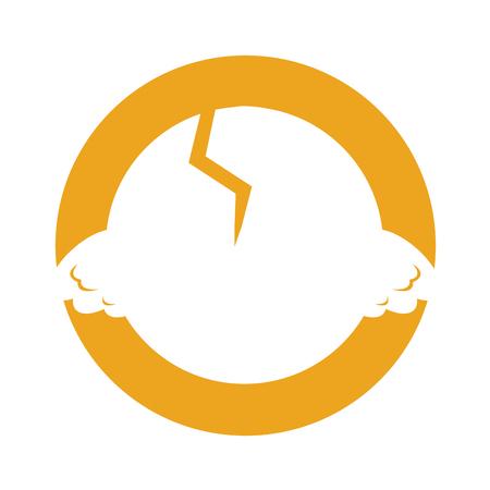 cute little chick in the shell vector illustration design Ilustração