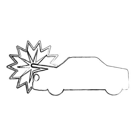car crash isolated icon vector illustration design