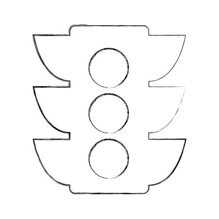 traffic light sign icon vector illustration design Ilustração