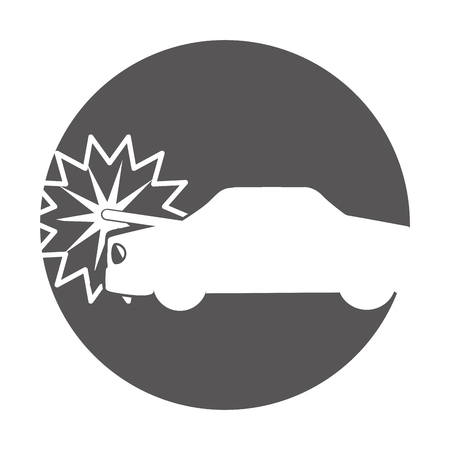 racing sign: car crash isolated icon vector illustration design