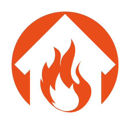 insure: house fire insurance icon vector illustration design