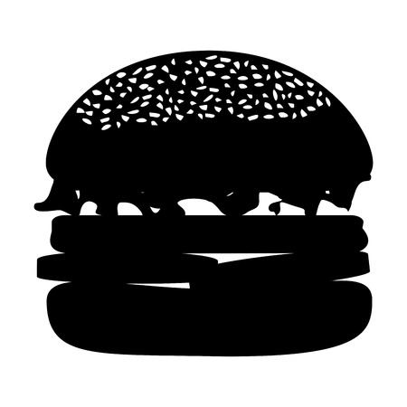 delicious burger isolated icon vector illustration design Illustration