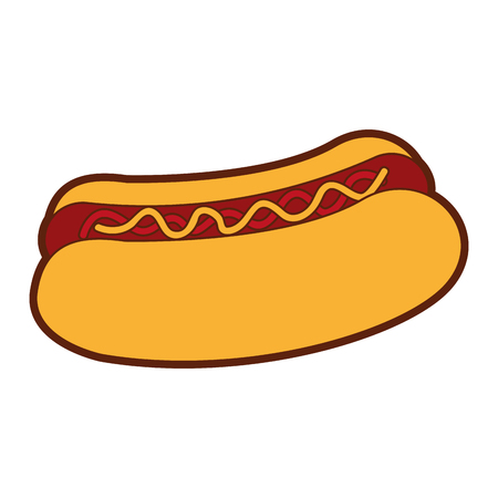delicious hot dog icon vector illustration design Stock Vector - 79760715