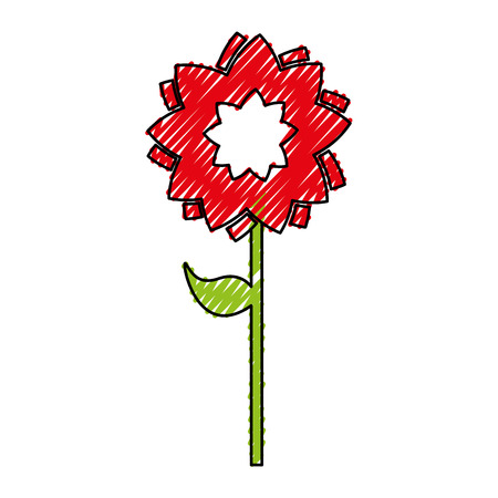 cute flower isolated icon vector illustration design