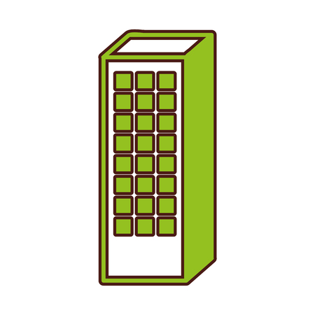 multi storey: exterior building drawing icon vector illustration design Illustration