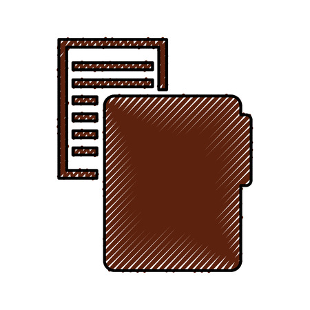 folder file with paper isolated icon vector illustration design