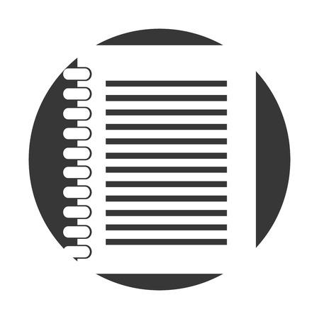 Notitieboek geïsoleerd pictogram vector illustratie ontwerp