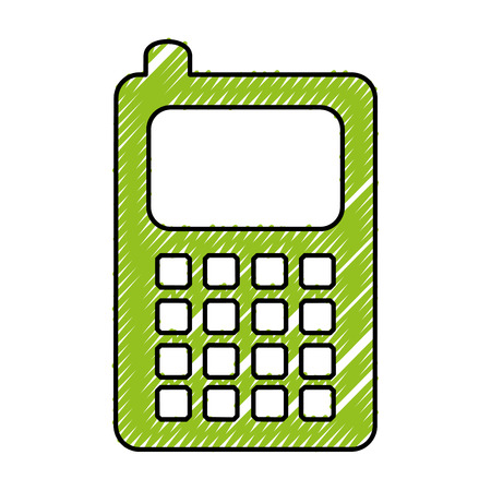 old pc: cellphone device isolated icon vector illustration design