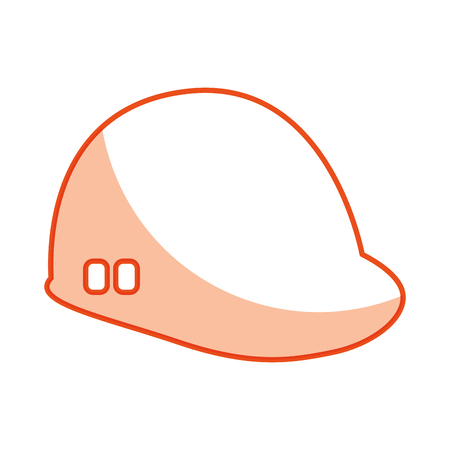 construction helmet isolated icon vector illustration design Illustration