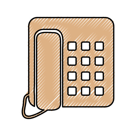 telephone service isolated icon vector illustration design Illustration