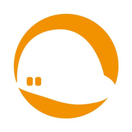 construction helmet isolated icon vector ilustration hard