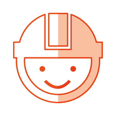 builder head with helmet icon vector ilustration Illustration