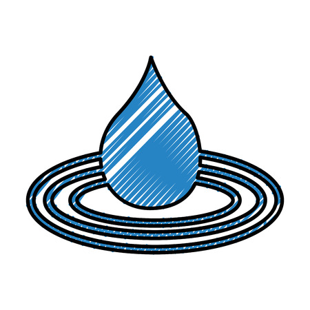 water drop isolated icon vector illustration design