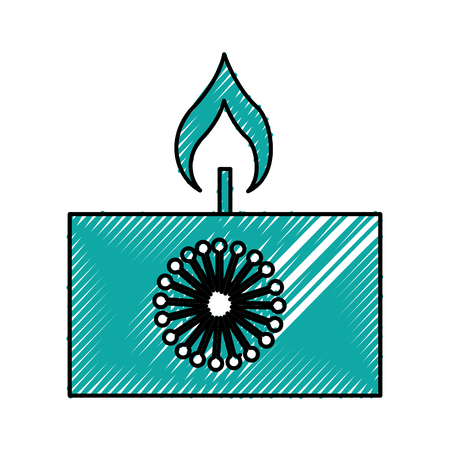 bath essence: aroma therapy candle spa icon vector illustration design