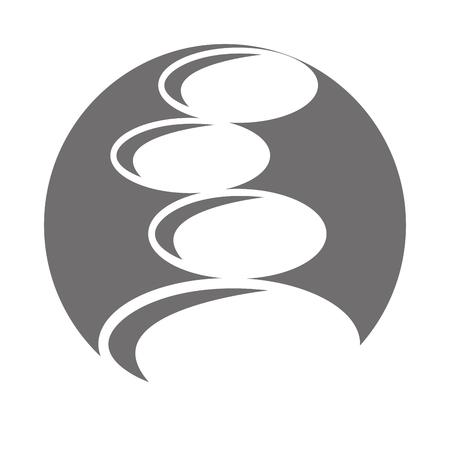 stones pile spa icon vector illustration design 向量圖像