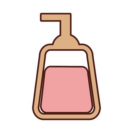 Dispensador de jabón icono aislado diseño de ilustración vectorial