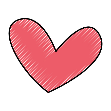 Hermoso corazón dibujo icono ilustración vectorial diseño Foto de archivo - 79816963