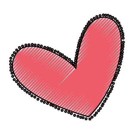 Hermoso corazón dibujo icono ilustración vectorial diseño Foto de archivo - 79816966