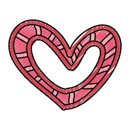 Hermoso corazón dibujo icono ilustración vectorial diseño Foto de archivo - 79816962