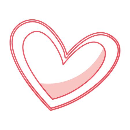 beautiful heart drawing icon vector illustration design