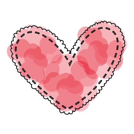 Hermoso corazón dibujo icono ilustración vectorial diseño Foto de archivo - 79816990