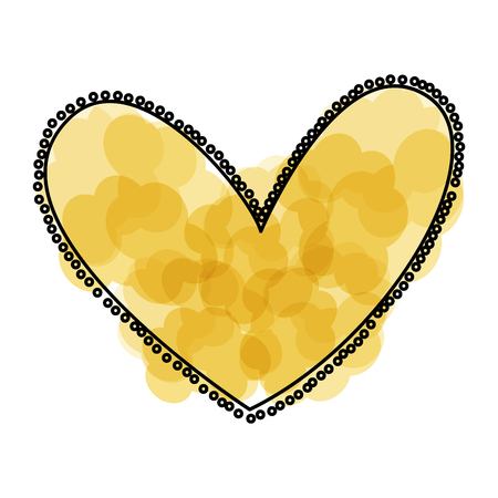 beautiful heart drawing icon vector illustration design