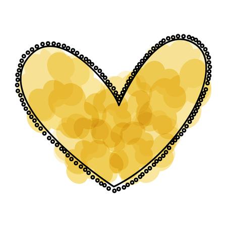 Hermoso corazón dibujo icono ilustración vectorial diseño Foto de archivo - 79816992