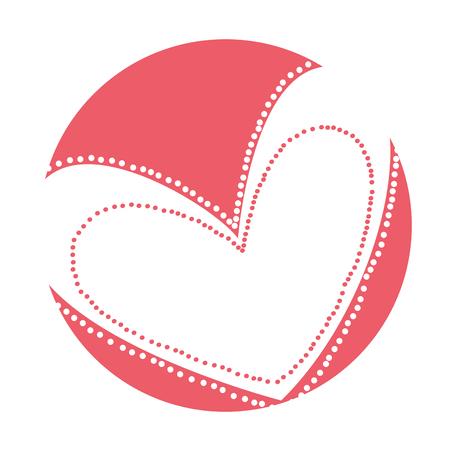 Hermoso corazón dibujo icono ilustración vectorial diseño Foto de archivo - 79817000