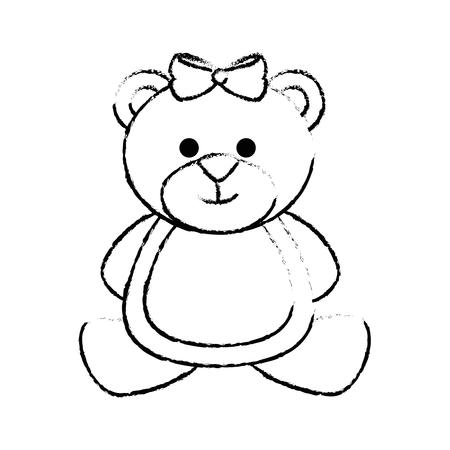 bear cute cartoon icon vector illustration graphic design