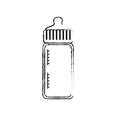 baby bottle bow cartoon icon vector illustration graphic design